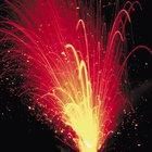 Quais reações químicas fazem um vulcão entrar em erupção?
