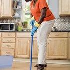Lista de artículos para procedimientos de limpieza de la cocina