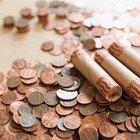 Como fazer um rolo de papel para embrulhar moedas