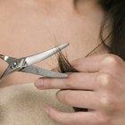 Cómo arreglar las puntas de cabello cortadas con navaja