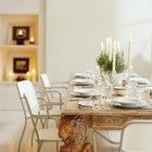 Medidas sugeridas para una mesa de comedor