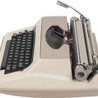 Partes operativas de uma máquina de escrever