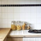 Border tiles in a kitchen backsplash can be used wherever you want some variation.