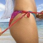 Cómo atar la cuerda de un traje de baño