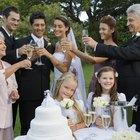 Family toasting at wedding
