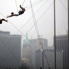 O que faz um trapezista?