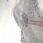 How to Add Rhinestones to a Wedding Dress