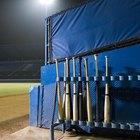 DIY dugout bat rack