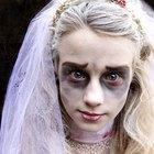 Cómo hacer el maquillaje de novia muerta para un disfraz de Noche de Brujas