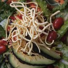 Stewed haddock and salad