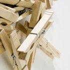 Como fazer uma cruz com prendedores de roupa de madeira