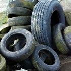 Como empilhar pneus para fazer uma parede de retenção
