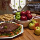 Homemade rib-eye boneless roast beef