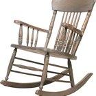 Cómo pintar sillas mecedoras de madera