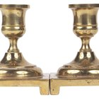 How to identify an antique brass candlestick