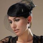 Cómo hacer un sombrero de velo negro tipo jaula