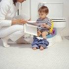 Little girl on potty