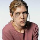 Teenage girl (16-17) on train, close-up