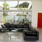 Sectional couches can create an island in a larger space.