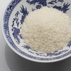 Plate of boiled rice