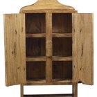 Add doors and wood molding to make shelves that look similar to this antique cabinet.