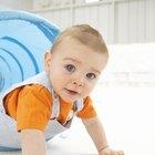 Blue eyed baby portrait