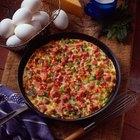 Calorías en un omelette de dos huevos, jamón y queso