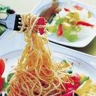 Cómo hacer espaguetis blancos