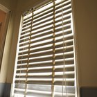 How to hang 2 inch faux wood blinds
