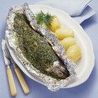 Cómo cocinar pescado al vapor con papel aluminio
