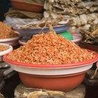 Como preparar camarão seco