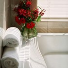 Stack extra towels on ledges and sills for easy access.