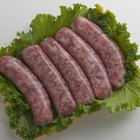 Roasted sausages with steamed cabbage