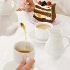 Cómo poner una mesa formal para tomar el té