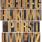 The best way to hang wooden letters on a wall