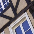 Tudor-style homes have windows with multiple panes.