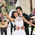 Pista de baile casera para una boda de exterior