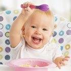 baby eats buckwheat groats