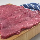 Grilled Steak on Wooden Board