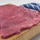 Slow cooked pork on iron skillet