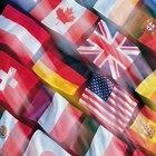 Ideias decorativas para fazer bandeiras de países com papel de construção