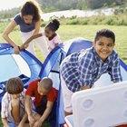 Campamentos de tienda de campaña en los parques estatales de North Carolina