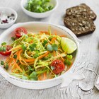 Dieting healthy salad and crackers