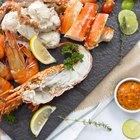 Giant Shrimp skewers.