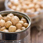 opened can of garbanzo chick peas