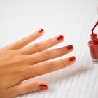 paint your nails with red varnish
