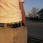 shabby leather belt