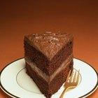 Cream and chocolate cake