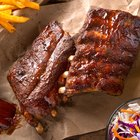Roasted sliced barbecue pork ribs
