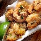 plate of fried spiced prawns